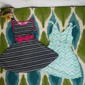 Kids PINKY & BASIC EDITIONS set of dresses size 5